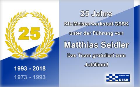 Jubiläum 25 Jahre GESK KFZ-Meisterwerkstatt